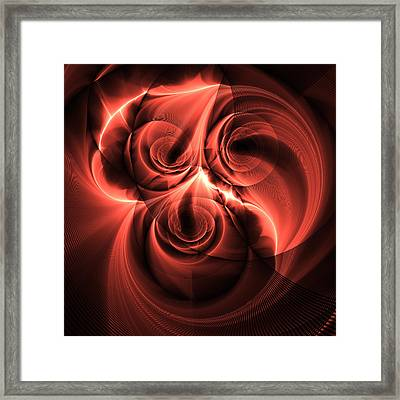 Electric Rose Framed Print