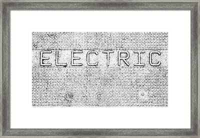 Electric Safety Cover Signage Framed Print