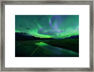Electric Skies Over Jasper National Park Framed Print