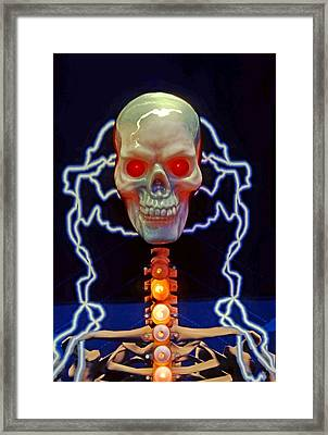 Electric Skull Framed Print