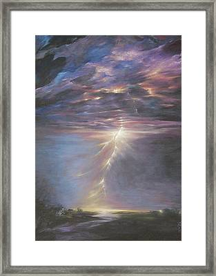 Framed Print featuring the painting Electric Sky by Dina Dargo