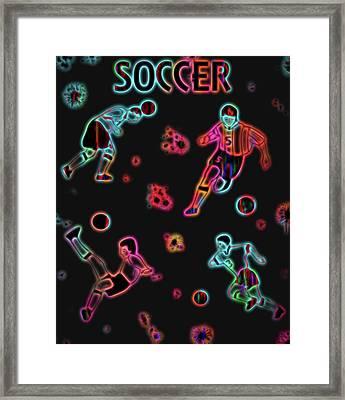 Electric Soccer Poster Framed Print