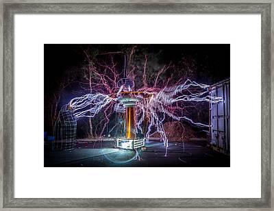 Electric Spider Framed Print