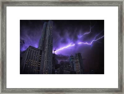 Electric Storm Framed Print