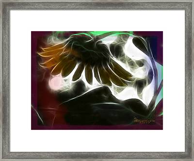 Electric Sunflower Framed Print by EricaMaxine  Price