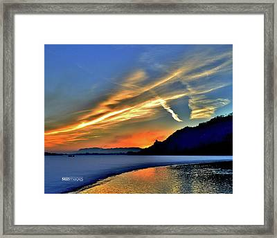 Electric Sunrise Framed Print