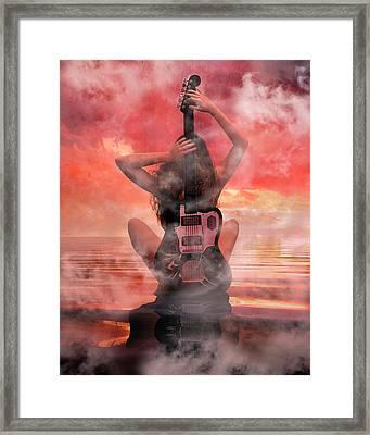 Electric Sunset Framed Print