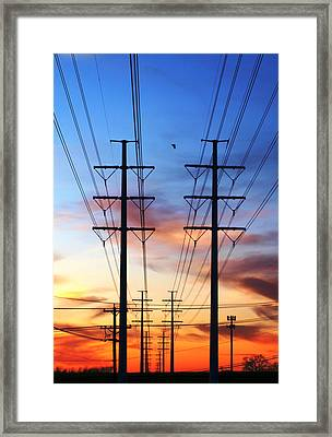 Electric Sunset Framed Print by James Granberry