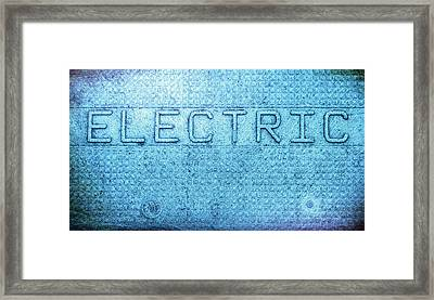 Electric Text Framed Print