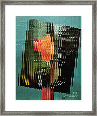 Electric Tulip 2 Framed Print by Sarah Loft