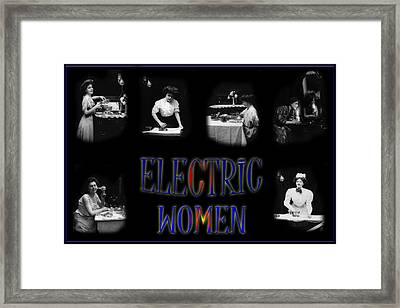 Electric Women Framed Print by Andrew Fare