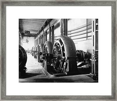 Electrical Generators In Edison Sault Framed Print