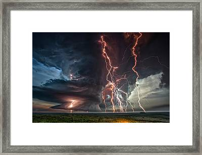 Electrical Storm Framed Print