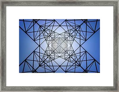 Electrical Symmetry Framed Print