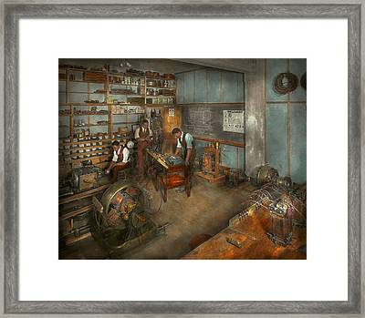 Electrician - The Electrical Engineering Course - 1915 Framed Print