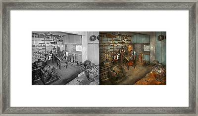 Electrician - The Electrical Engineering Course - 1915 - Side By Side Framed Print by Mike Savad