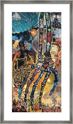 Electricity Hand La Mano Poderosa Framed Print