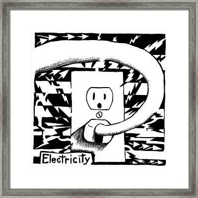 Electricity Maze Framed Print by Yonatan Frimer Maze Artist