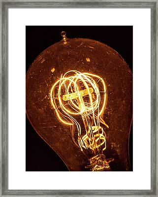 Framed Print featuring the photograph Electricity Through Tungsten by T Brian Jones