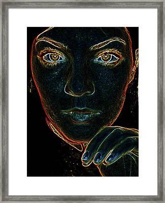 Electrify Framed Print by Katie Ransbottom