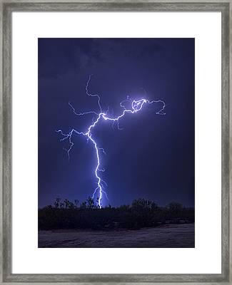 Electrify The Desert Skies  Framed Print
