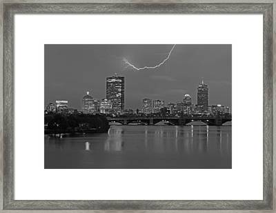 Electrifying Boston Framed Print by Juergen Roth