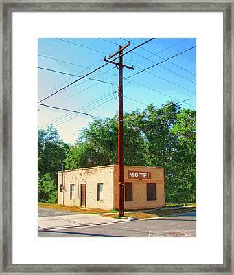 Electromagnetic Motel Framed Print