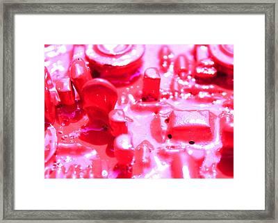 Electronic City Framed Print
