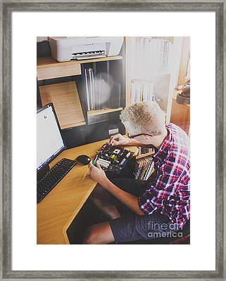 Electronic Engineer In Training Framed Print