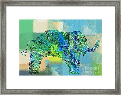 Elefanterie - 01t01a Framed Print by Variance Collections
