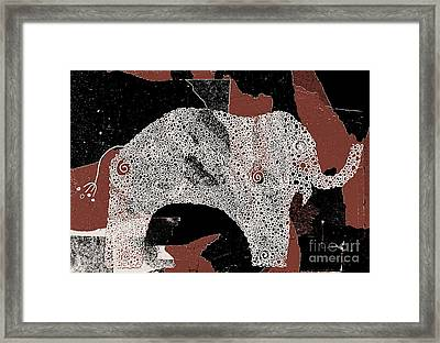 Elefanterie - 11a - Brown Framed Print by Variance Collections