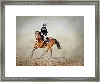Elegance In The Dust Framed Print