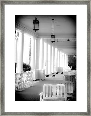 Elegance Of Architecture In B And W Framed Print by Karen Wiles