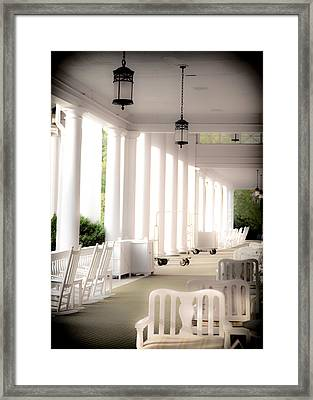 Elegance Of Architecture Framed Print by Karen Wiles