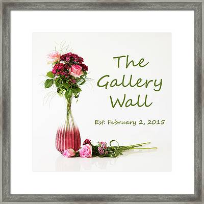 Framed Print featuring the photograph Elegance-the Gallery Wall Logo by Wendy Wilton