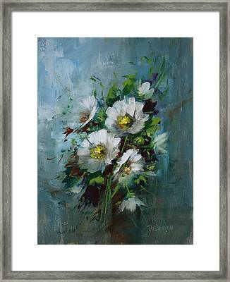 Elegant Blossoms Framed Print by David Jansen