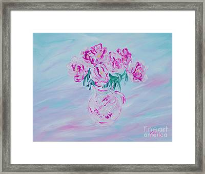 Elegant Bouquet Of Peonies. Joyful Gift. Thank You Collection Framed Print