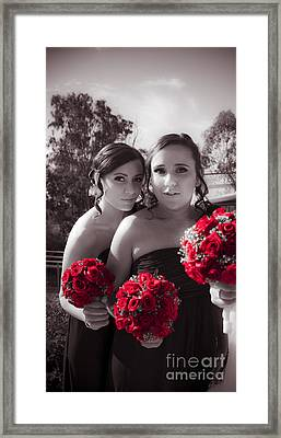 Elegant Bridesmaids Framed Print by Jorgo Photography - Wall Art Gallery