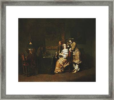 Elegant Company Playing Cards In An Interior Framed Print