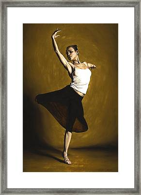 Elegant Dancer Framed Print by Richard Young