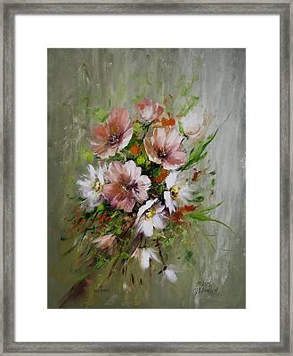 Elegant Flowers Framed Print by David Jansen