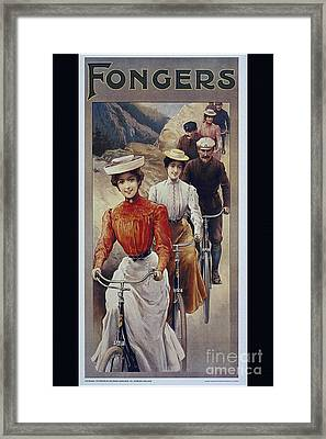Elegant Fongers Vintage Stylish Cycle Poster Framed Print