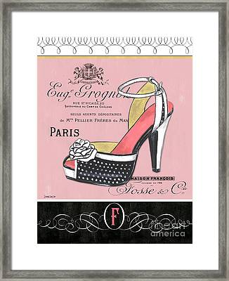 Elegant French Shoes 2 Framed Print by Debbie DeWitt