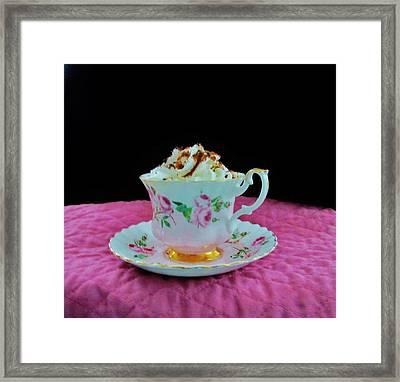 Elegant Hot Chocolate Framed Print by Sharon Ackley