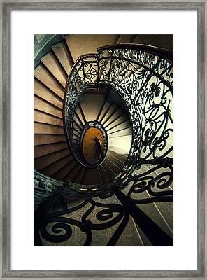 Elegant Metal Spiral Staircase Framed Print by Jaroslaw Blaminsky