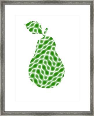 Elegant Pear Framed Print