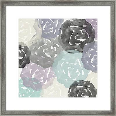 Elegant Roses- Art By Linda Woods Framed Print by Linda Woods