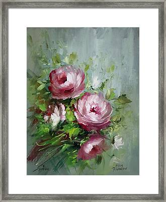 Elegant Roses Framed Print by David Jansen
