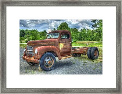 Elegant Rust 1947 International Harvester K B 5 Truck Framed Print