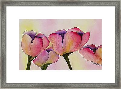 Elegant Tulips  Framed Print by Mary Gaines